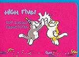 Geburtstagskarte High Five witzige Katzen A6