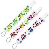 almondcy Dummy clip 3Packs-Elegante design moderno di 2punte-Miglior supporto di ciuccio per bambine e bambini immagine