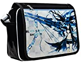 siawasey Japanische Anime Cartoon Cosplay Messenger Bag Rucksack Schultertasche Tasche (31Mustern) schwarz Black Rock Shooter