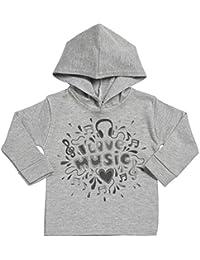 SR - I Love Music Cotton Baby Hoodie - Baby Hoody - Baby Sweatshirt with Hood - Baby Gift