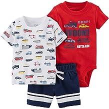 Carter s Pantalones Cortos de Dino de 3 Piezas para bebé-niños cb65b288cb12
