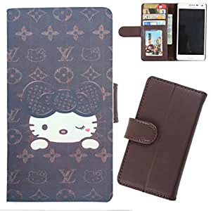 DooDa - For Samsung Galaxy S5 mini PU Leather Designer Fashionable Fancy Wallet Flip Case Cover Pouch With Card, ID & Cash Slots And Smooth Inner Velvet With Strong Magnetic Lock