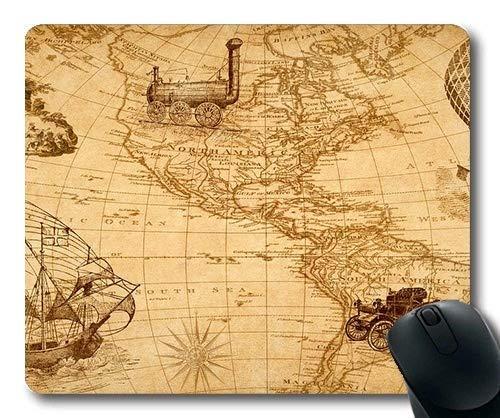 Yanteng Alfombrilla de ratón de Mapa de Novedad