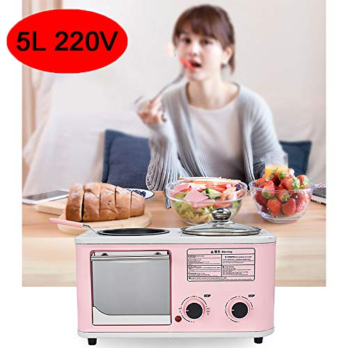 MAOMAOQUEENss 4-In-1-Elektro-Mini-Backofen, Multifunktions-FrüHstüCksmaschine, Sparen Sie Zeit Und Lassen Sie Sich KöStliches Essen Schmecken, Es Ist Der Beste Helfer In Unserer KüChe,Pink