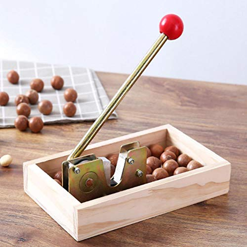 WXGY Nussknacker-Nusszange,Hochleistungs-Macadamia-Öffner-Schälmaschine Mit Haltbarem Metallgriff Für Haselnuss-Mandeln