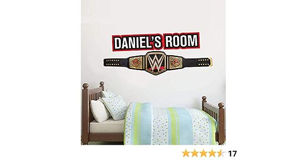 Title Belt Personalised Vinyl Sticker Decal Kids Mural Art Wrestling Beautiful Game WWE Wall Decal 60cm
