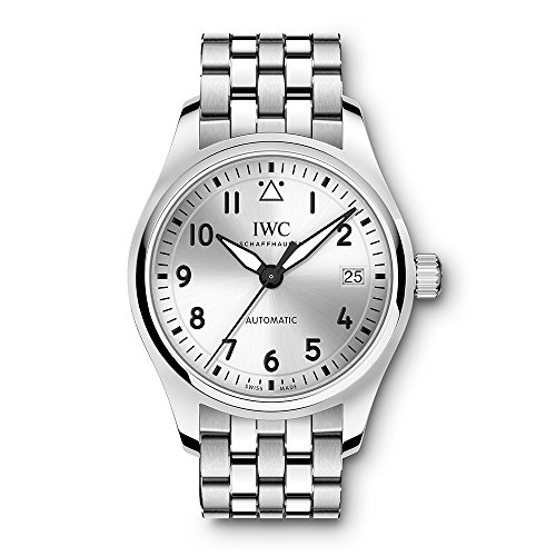 IWC MEN'S PILOT 36MM STEEL BRACELET & CASE AUTOMATIC ANALOG WATCH IW324006