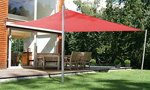 PEGANE Voile d'ombrage rectangulaire Terracotta en Polyester 200g/m² Anti-UV, 300 x 250 cm avec kit de Fixation