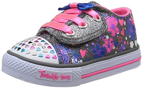 skechers-girls-shuffles-lil-bitty-bops-trainers-grey-size-8-child-uk