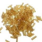 Beadsnfashion Seed Bugles Beads Amber (1...