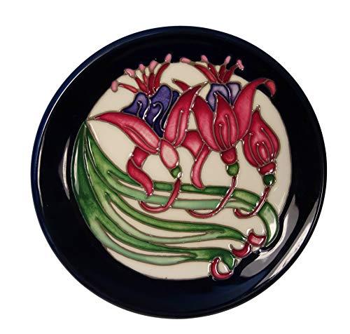 Eine Moorcroft Weihnachtskarten Keramik Untersetzer Cat of Siam Pin Tablett  von Rachel Bischof Form 780/4