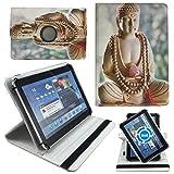 Buddha Herz Tablet Tasche Schutz Etui Hülle für 10 Zoll Jay-Tech / CANOX Tablet PC 101