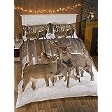 Ciervo King Quilt Funda Nórdica y 2fundas de almohada Ropa de cama Juego de fotografías Animal