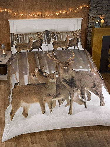 cerf-king-size-housse-de-couette-et-2-taie-doreiller-parure-de-lit-photo-animal