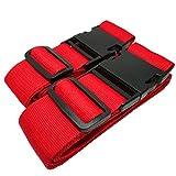 Koffergurt rot - 1 kaufen + 1 GRATIS dazu. Ihr Gepäck sicher auf Reisen mit dem robusten und verstellbaren Koffergurt. Auch als Kreuz-Gepäckgurt verwendbar. Für die ganze Familie (rot, 200 cm)
