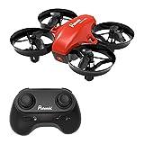 Potensic Mini Drohne Kinder und Anfänger, RC Quadrocopter mit Höhenhaltemodus, Start / Landung mit Einem Knopfdruck, Kopflos Modus, Spielzeug Drohne Helikopter - Drohne Ohne Kamera Rot