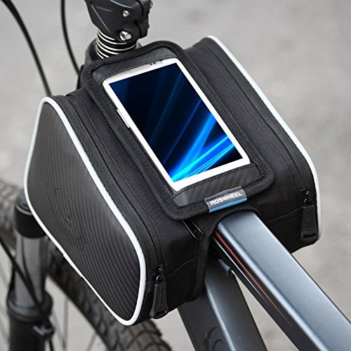 Lixada Bicicletta Borsa Manubrio Bicicletta Tubo Superiore Anteriore Pannier della Struttura Borsa a Doppia Borsa Per Cellulare di 4.8/5.5inch (4.8in)