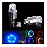 Kingko® Sports Outdoors Hot Cycling Lighting Parts Accessories 4X Bike Car Motorcycle Wheel Tire Tyre Valve Cap Neon LED Flash Light Lamp