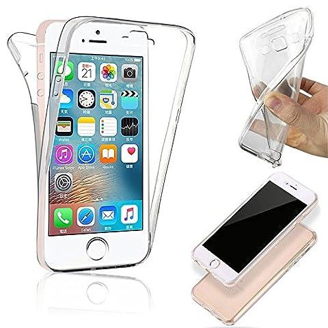 Imoxx - housse étui coque gel avant / arrière pour iPhone 8 - protection intégral de votre téléphone .( transparent )