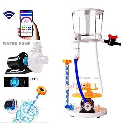 MUJING Écumeur Aquarium Aquarium Skimmer Filtre qualité de l'eau Amélioration des Poissons tropicaux et Poissons d'ornement protéines intégré/Séparation des déchets d'élimination des impuretés