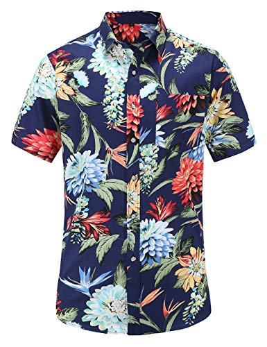 JEETOO Men's Pineapple Shirts Ha...