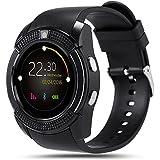 SinoPro V8 Smart Watch, Sports Fitness Tracker Bluetooth reloj de pulsera con tarjeta SIM y TF ranura para tarjeta de la cámara Notificación de mensaje de sueño de monitor Compatible con iPhone Samsung HTC Sony Huawei y otros Smartphone Android