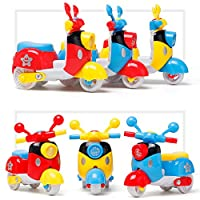 Festiday 1PC Mini Motorcycle Toy Pull Back Diecast Motorcycle Early Model Educational Toys Sale Kids Toy, Gift Education Toy for Boys Girls Fun Toy for 1 2 3 4 + Years Old toys