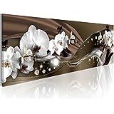 Quadro 135x45 cm ! Tre colori da scegliere - 1 Parte - Grande Formato - Quadro su tela - Stampa in qualita fotografica - orchidea fiori b-A-0072-b-c 135x45 cm B&D XXL