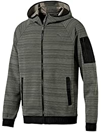 Puma Liga Casuals Hoody Sweatshirt, Hombre, Medium Gray Heather/Black, M