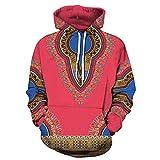 Pullover Herren Liebhaber Herbst Kapuzenpullover Winter 3D Print Langarm Dashiki Hoodies Sweatshirt Top SANFASHION