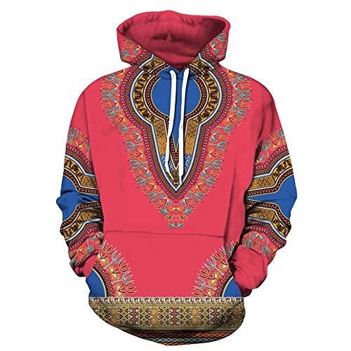 Pullover Herren Liebhaber Herbst Kapuzenpullover Winter 3D Print Langarm Dashiki Hoodies Sweatshirt Top SANFASHION Metallic-print-sweatshirt