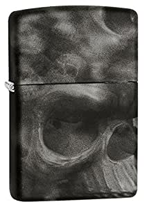 Zippo Skull Soft Touch Windproof Lighter - Black