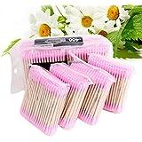 Korean 400pcs/Lot Candy Color Cotton Swabs Cotton Stick Makeup Tools