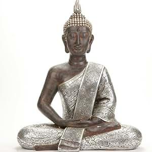 Grande statue bouddha en m ditation 62 cm de haut - Statue bouddha interieur maison ...