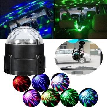 3W buntes Ton aktiviertes magisches Kugel-Stadiums-Licht für Disco-Auto 12V-24V (Disco-kugel 24)