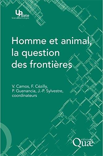 Couverture du livre Homme et animal, la question des frontières