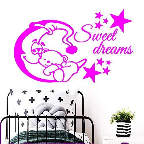 zqyjhkou Moderne Sweet Dream Abnehmbare PVC Wandaufkleber Schlafzimmer Kinderzimmer Dekoration Wandbild Poster 4 L 43 cm X 69 cm
