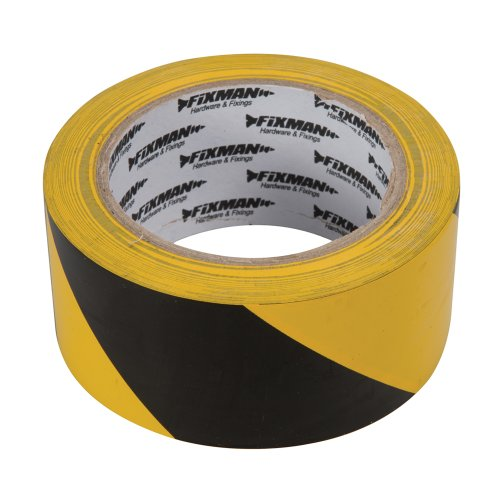 fixman-190195-hazard-tape-50mm-x-33m-black-yellow
