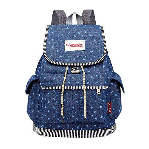 GiveKoiu-Bags Mochilas para Niñas para la Escuela, Baratas, Moda, Hebilla, Vaquero, Bolsa...