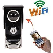 BW WiFi timbre, HD 720p cámara de vídeo inalámbrico Intercom timbre, control por teléfono inteligente, apoyo para iOS/Android, para iPhone/Samsung