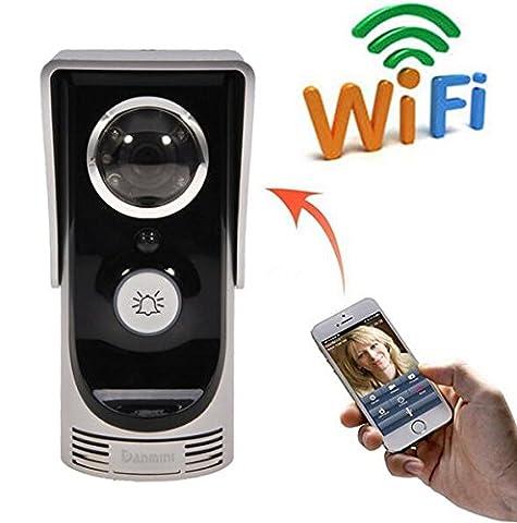 BW® WIFI Sonnette, HD 720P Caméra vidéo sans fil Interphone de porte Bell, contrôle par téléphone, support pour iOS/Android, Smart pour iPhone/Samsung