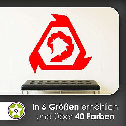 KIWISTAR Bruderschaft Von Nod Logo - Scorpion Schwanz Wandtattoo in 6 Größen - Wandaufkleber Wall Sticker
