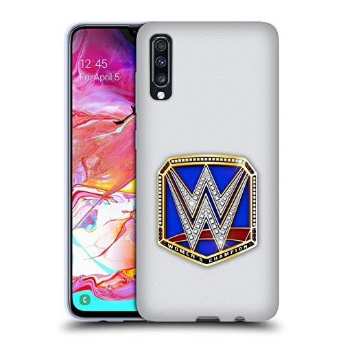 Head Case Designs Offizielle WWE Smackdown Women's Champion Weltmeistertitel Soft Gel Huelle kompatibel mit Samsung Galaxy A70 (2019) (Champion Womens Wwe)