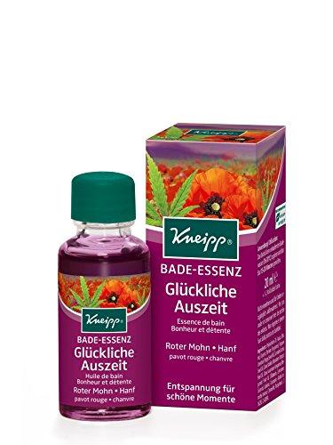 Kneipp Gesundheitsbad Glückliche Auszeit Roter Mohn-Hanf, 24er Pack (24 x 20 ml) (Glücklich Bad)