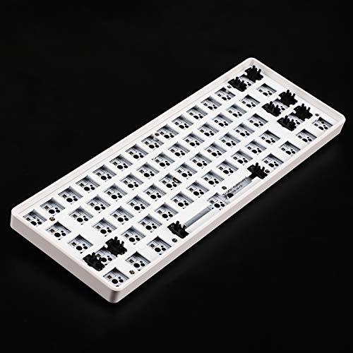 GH60 GK61 RGB Hot Swap Unabhängiger Treiber Tyce-C ANSI Mechanische Tastatur DIY Kit Kunststoff-Gehäuse CNC Aluminium Gehäuse Platte PCB Plastic White Case Wired (Tastatur-kit)