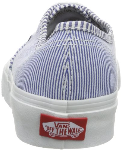 Vans Authentic Scarpe da Skateboard, Unisex Adulto Blu (Multi Stripes)