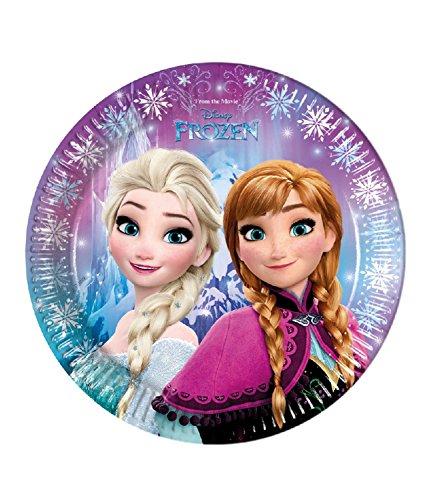 Disney-Frozen-Elsa-Anna-Girls-Paper-plate-blue