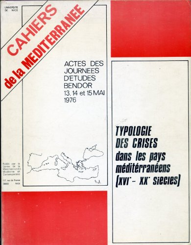 Typologie des crises dans les pays méditerranéen...