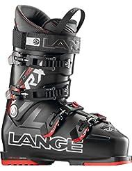 Lange RX 100 - Botas de esquí para hombre, color negro / rojo