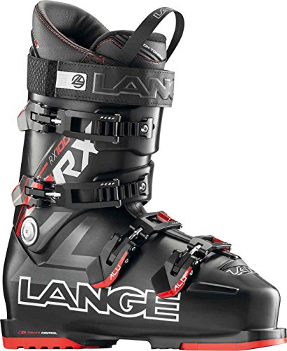 LANGE RX 100 - Botas de esquí para Hombre, Color Negro/Rojo, Talla 27,5